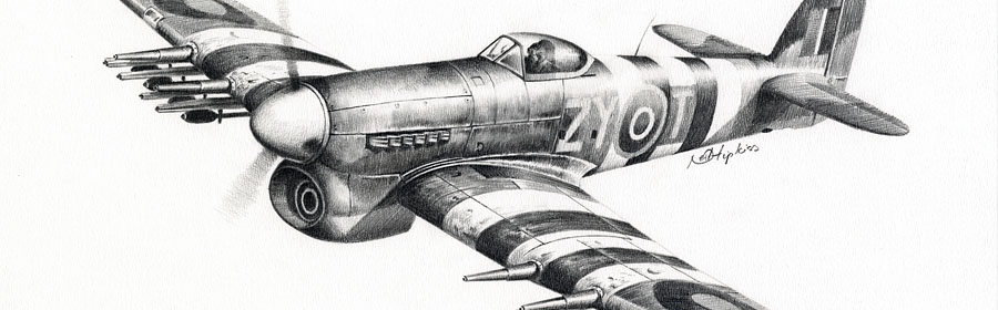 aviation pencil drawings by aviation artist Neil Hipkiss