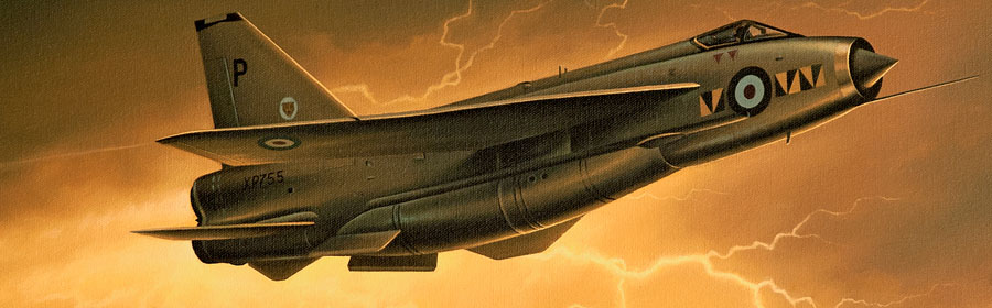 English Electric Lightning aviation art by Neil Hipkiss