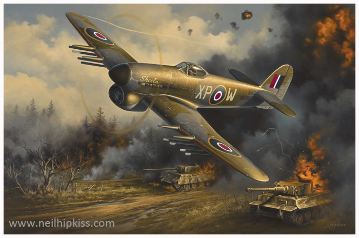 Warbird RB396 Oil Painting by Neil Hipkiss GAvA