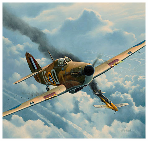 Bader Print by Neil Hipkiss, Aviation Artist