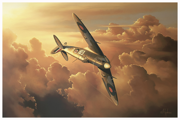 Flying Free - Spitfire Aviation Art by Neil Hipkiss