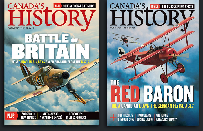 Canadas History Magazine Covers