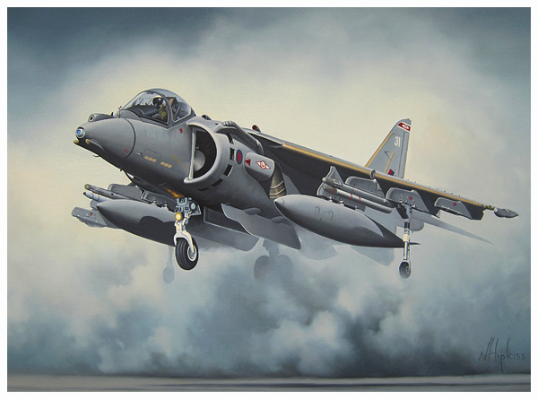 Harrier Rising by Neil Hipkiss Aviation Artist