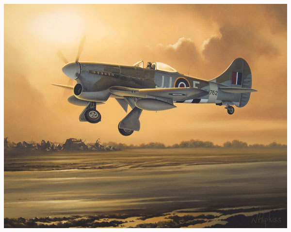 Hawker Fairbanks Tempest by Neil Hipkiss Aviation Artist