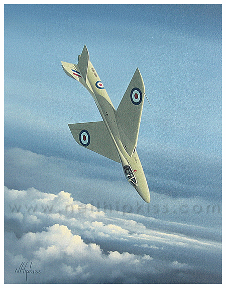 Testing a Thoroughbred - Aviation Art by Neil Hipkiss Aviation Artist