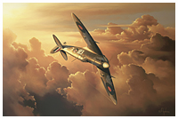 Spitfire painting by Neil Hipkiss - Aviation Artist