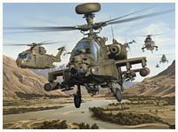 Joint Force Helicopters - Avaition Art by Neil Hipkiss