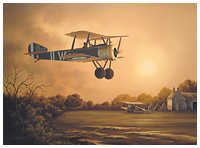 Sopwith Pup painting by Neil Hipkiss